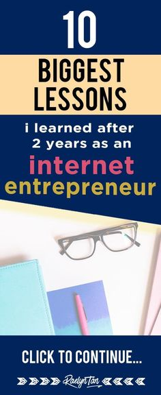 10 Biggest Lessons I Have Learned As An Internet Entrepreneur I reveal my 10 biggest lessons from 2 years as an internet entrepreneur. You might be expecting theory – this is based on my personal REAL LIFE experiences. Internet Entrepreneur, Business Entrepreneur, Internet Marketing, Content Marketing, Affiliate Marketing, Online Marketing, Media Marketing, Make Money Blogging, Make Money Online