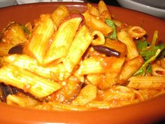Penne Pasta with Eggplant and Napoli. Part of the 3 course #vegan meal from Cloudland, Brisbane