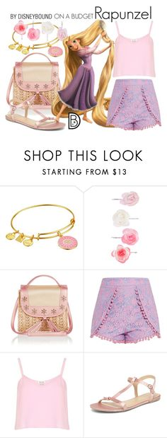"""""""Rapunzel"""" by leslieakay ❤ liked on Polyvore featuring Alex and Ani, Accessorize, Monsoon, River Island, Dorothy Perkins, disney, disneybound and disneycharacter"""