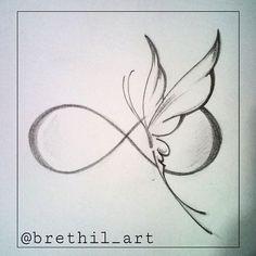 New tattoo designs drawings inspiration tatoo ideas Infinity Tattoos, Wrist Tattoos, Body Art Tattoos, Foot Tattoos, Small Tattoos, Infinity Butterfly Tattoo, Butterfly Tattoos, Infinity Tattoo Designs, Tattoo Neck