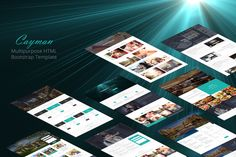 Cayman - HTML Bootstrap Theme by WowThemes.net on Creative Market