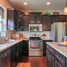 Now reduced $5,000! The #kitchen in the Nottingham model at 983 Connell Street, #Mechanicsburg in the Orchard Glen neighborhood.