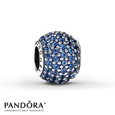 PANDORA CHARM BLUE CRYSTAL STERLING SILVER - $65