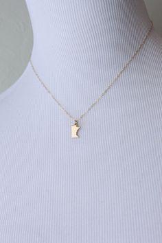 Minnesota  Charm Necklace by yellowbrickjewelry on Etsy, $18.00