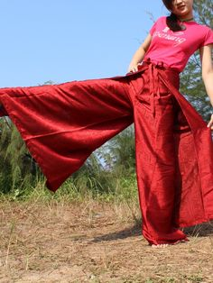 Thai Silk Women Men Hippie Pants Yoga Harem Pants by myuniverse, $29.90
