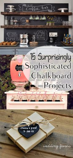 Amazingly sophisticated chalkboard projects for any home. Easy Crafts, Diy And Crafts, Easy Diy, Crafts For Kids, Kids Diy, Diy Craft Projects, Projects To Try, Craft Party, Decoration