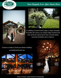 Your happily ever after starts here. Lizard Creek Lodge at Fernie Alpine Resort Lodge Wedding, Take A Breath, Top Of The World, Happily Ever After, Simply Beautiful, Got Married, Backdrops, Dreaming Of You, Dream Wedding