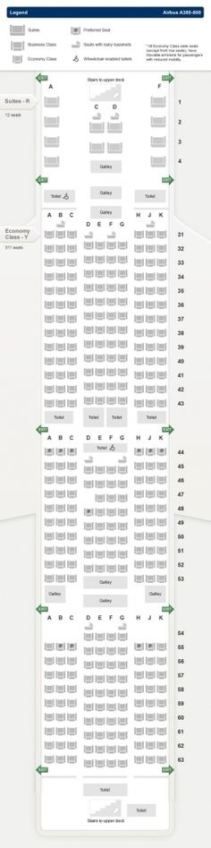 Nice The Brilliant Singapore Airlines A380 Seating Plan