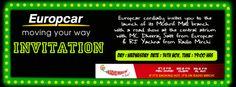 Europcar Mushrif Mall Invitation Launch