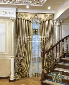 Curtains And Draperies, Home Curtains, Window Curtains, Classic Curtains, Elegant Curtains, Window Coverings, Window Treatments, Painted Curtains, Drapery Designs