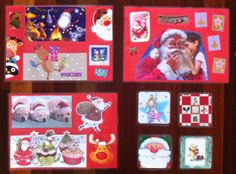 Christmas placemats & Coasters using Christmas cards. http://www.kidsactivitiesandtipsforeveryday.blogspot.com.au/