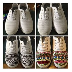 Revamp old shoes with sharpies or permanent markers