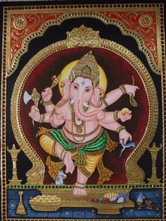 Ganapathi Tanjore Painting Tanjore Paintings on Shimply.com