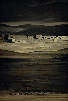 Harry Gruyaert Morocco - High Atlas. 1986. this is about exactly how I imagined the sumerian underworld