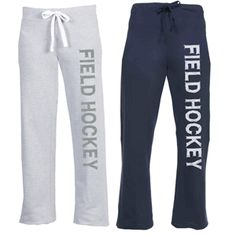 This would be an amazing gift! Two things I love: Sweatpants and Field Hockey :) Size small, heather gray