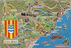 Costa Brava Map Card, de St. Feliu de Guixols a St. Antoni de Calonge, via Flickr.