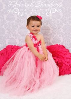 Flower Princess Tutu Dress - Comes in Pink, Purple and White - Sweet N' Stylish Kids Accessories