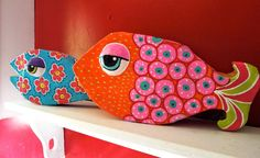 Whimsical Paper Mache Fish Tutorial by maria mer...