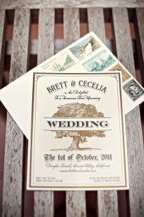 Wedding invites -  Retro/Vintage - LOOOOOVE