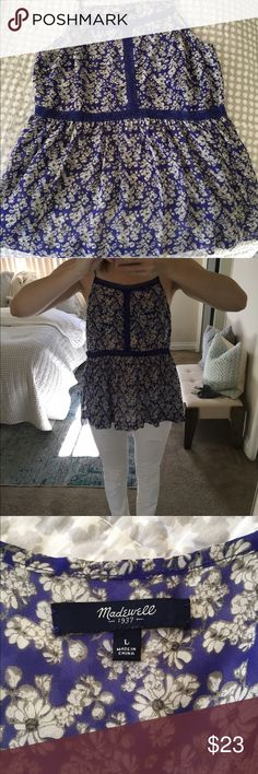 Floral Madewell Cami Super cute, flows floral Madewell Cami with lace details. Worn once, like new. Madewell Tops Camisoles
