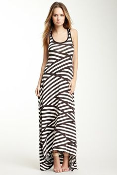 Go Couture Hi-Lo Hem Maxi Dress by Back To Black on @HauteLook