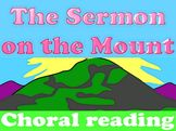 FREEBIE: New Testament choral reading - Sermon on the Mount Youth Group Activities, Jesus Teachings, Love Scriptures, Health And Physical Education, Reading Help, Life Of Christ, Beatitudes, Memory Verse, Sunday School Crafts
