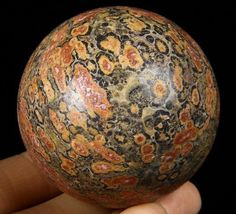 "2.0"" LEOPARD SKIN JASPER Sphere, Crystal Ball Healing, Mineral"