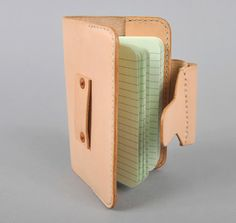 JOURNAL COVER, NATURAL VEGETABLE TANNED LEATHER :: HICKOREE'S