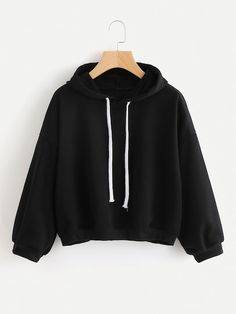 Hooded Drawstring Sweatshirt - Sweat Shirt - Ideas of Sweat Shirt - Sweatshirt Outfit, Hoodie Sweatshirts, Kleidung Design, Jugend Mode Outfits, Stylish Hoodies, Sweaters And Jeans, Teen Fashion Outfits, Fashion Women, Sweat Shirt