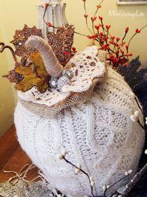 Mod Vintage Life: Sweater Pumpkins Tutorial
