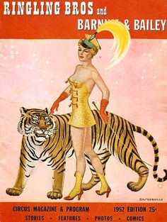 Ringling Brothers and Barnum & Bailey circus program, 1952.