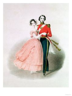 Queen Victoria and Prince Albert Dancing Giclee Print  Because I'm a history nerd