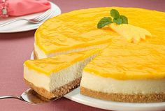 Cheesecake de Aveia e Manga by Aveia, via Flickr