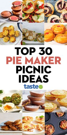 Mini Pie Recipes, Quiche Recipes, Cooking Recipes, Breville Pie Maker, Outdoor Food, Mini Pies, Food Tasting, Picnic Foods, Easy Food To Make