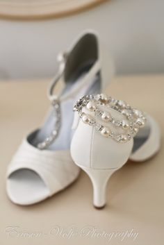 2bbfebba9 white with bling - wedding shoes!