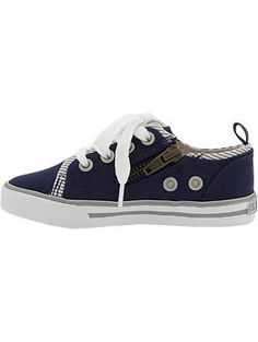 side zip canvas sneakers - old navy