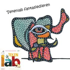 This cute little elephant is from Tekenlab - Fantasiedieren. Full with crazy, adorable animals!