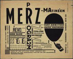MoMA   El Lissitzky. Cabaret Voltaire Program for Merz-Matinéen. 1923