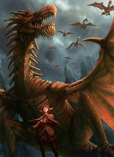 Airborn dragons - Art by Shinjiro Nobayashi