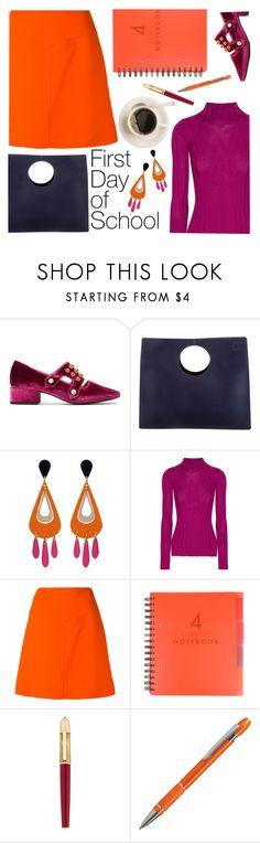 """back to school in color"" by paperdollsq ❤ liked on Polyvore featuring Toga, Loewe, Theory, Courrèges, Cartier, BackToSchool and colors"