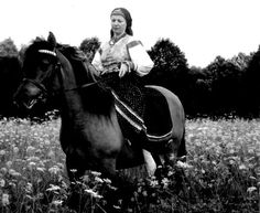 Lemko woman from southern Poland riding a horse Post Mortem Photography, Outdoor Girls, Carpathian Mountains, My Heritage, Eastern Europe, Horse Riding, Vintage Photography, Old Photos, Ukraine