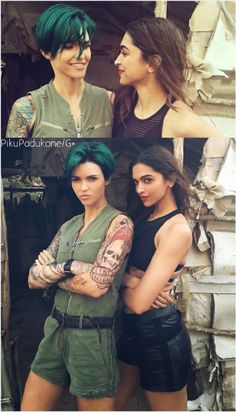 Ruby Rose & Deepika Padukone  (AKA) Adele & Serena, Straight from the sets of XXX : The Return Of Xander Cage