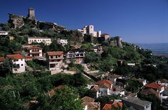 Kruja (Albania) - The castle-The town of Kruja (Krujë) is best known as the hometown of the great Albanian hero, Skanderbeg, who successfully fought with the Turkish for decades until his death. There is a well-preserved castle and probably the only souvenir bazaar in Albania.