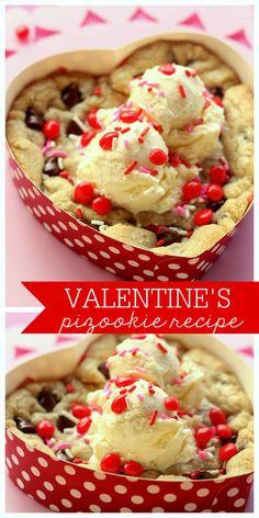Delicious Valentine's Pizookie - YUMMY!! { lilluna.com } #valentines