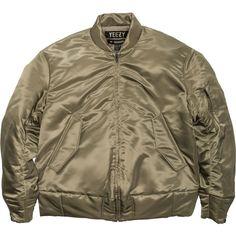 YEEZY SEASON 1 NYLON BOMBER ELM ($2,080) ❤ liked on Polyvore featuring outerwear, jackets, coats & jackets, adidas originals jacket, nylon jacket, bomber jacket, bomber style jacket and brown bomber jacket