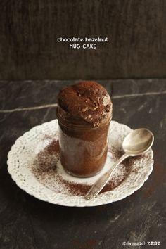Chocolate Nutella mug cakes