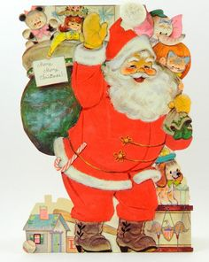 Hallmark Stand Up Santa with Toys Big Huge by QueeniesCollectibles, $19.99