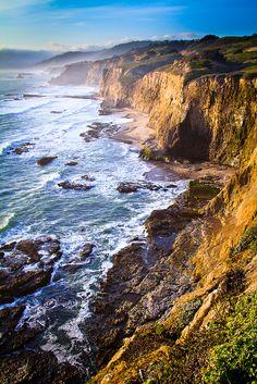 coastal cliffs, california