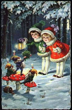 Christmas Elves and Mushrooms in the Woods Pinned for my girls who still believe!