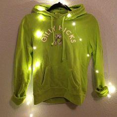 Gilly Hicks sweatshirt Lime green with koala mascot . Lightly worn. Gilly Hicks Sweaters